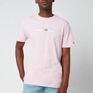 Tommy Jeans Men's Linear Logo T-Shirt - Romantic Pink