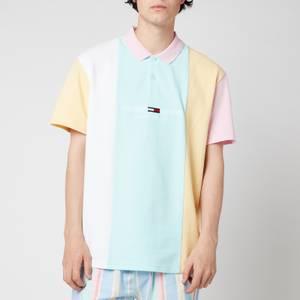 Tommy Jeans Men's Colorblock Polo Shirt - Aqua Coast Multi