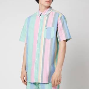 Tommy Jeans Men's Stripe 2 Short Sleeve Shirt - Romantic Pink Multi