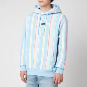 Tommy Jeans Men's Stripe Hoodie - Light Powdery Blue Multi