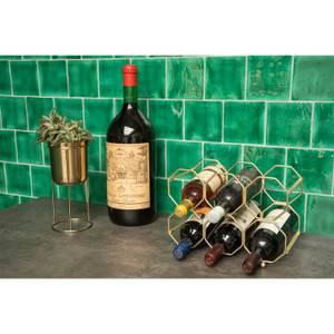 Iron Gold Foldable Wine Rack