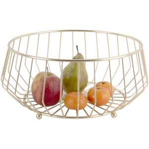 Iron Gold Plated Linea Fruit Basket