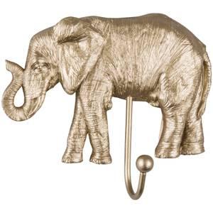 Gold Painted Elephant Coat Hook