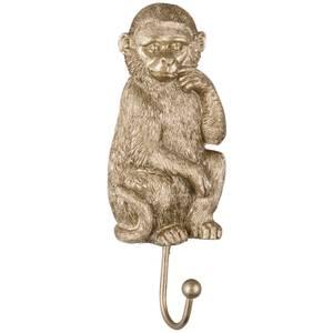 Gold Painted Monkey Coat Hook