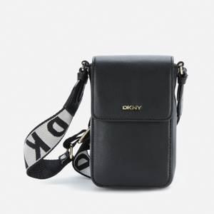 DKNY Women's Winona Flap Phone Cross Body Bag - Black