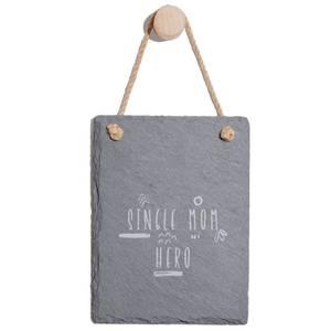 Single Mom Hero Engraved Slate Memo Board - Portrait