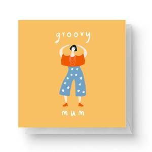 Groovy Mum Square Greetings Card (14.8cm x 14.8cm)