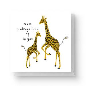 Mothers Day Giraffes Square Greetings Card (14.8cm x 14.8cm)
