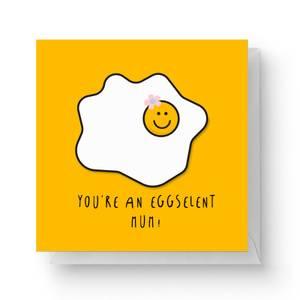 You're An Eggselent Mum! Square Greetings Card (14.8cm x 14.8cm)