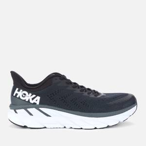 Hoka One One Men's Clifton 7 Trainers - Black/White