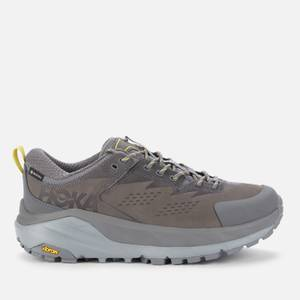 Hoka One One Men's Kaha Low Goretex Trainers - Charcoal Grey/Green Sheen