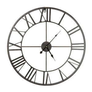 Metal Wall Clock - Black - 60cm