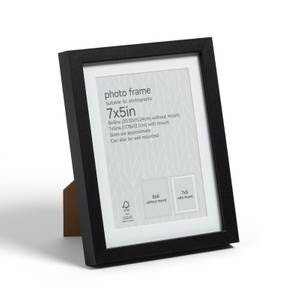 "Box Photo Frame - 7x5"" - Black"