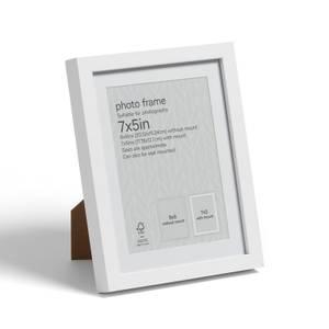 """Box Photo Frame - 7x5"""" - White"""