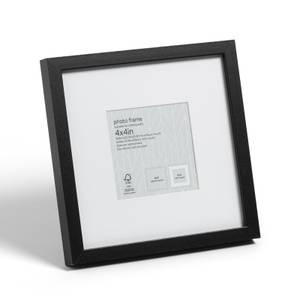 "Box Photo Frame - 4x4"" - Black"