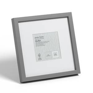 "Box Photo Frame - 4x4"" - Grey"