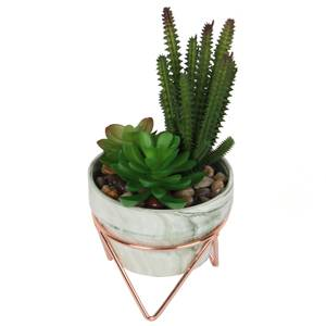 Artificial Succulent in Rose Gold Stand