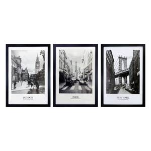 Framed Cities Prints - Set of 3