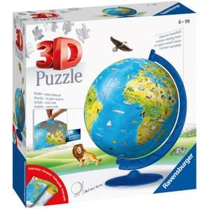 Children's World Map 3D Jigsaw Puzzle (180 Pieces)