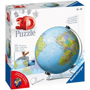 The World on V-Stand Globe 3D Jigsaw Puzzle (540 Pieces)