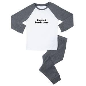 Tiers & Tantrums Kids' Pyjamas - White/Grey