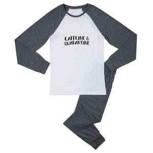 Caffeine & Quarantine Men's Pyjama Set - White/Grey