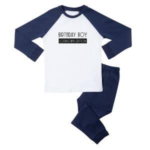 Birthday Boy Lockdown Edition Kids' Pyjamas - White/Navy