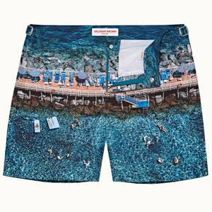 Orlebar Brown Men's Bulldog Portofino Paradiso Print Mid Length Swim Shorts - Multi