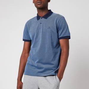 GANT Men's Oxford Pique Polo Shirt - Persian Blue