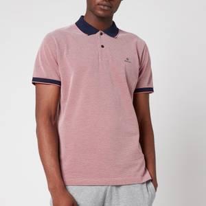 GANT Men's Oxford Pique Polo Shirt - Paradise Pink