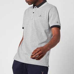 GANT Men's Tech Prep Pique Polo Shirt - Grey Melange