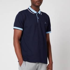 GANT Men's Tech Prep Pique Polo Shirt - Classic Blue