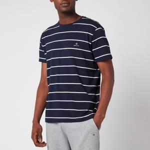GANT Men's Breton Stripe T-Shirt - Evening Blue