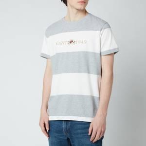 GANT Men's Flag Crest T-Shirt - Grey Melange