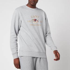 GANT Men's Flag Crest Sweatshirt - Grey Melange