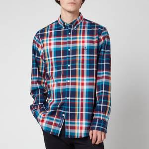 GANT Men's Tech Prep Regular Fit Plaid Oxford Shirt - Dark Teal