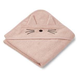 Liewood Albert Baby Hooded Towel - Cat Rose
