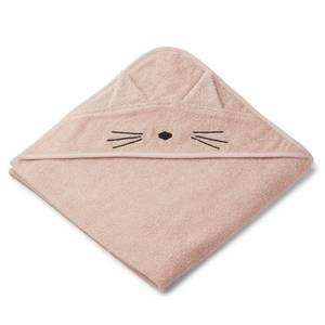 Liewood Kids' Augusta Hooded Towel - Cat Rose