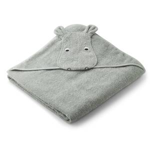 Liewood Kids' Augusta Hooded Towel - Hippo Dove Blue