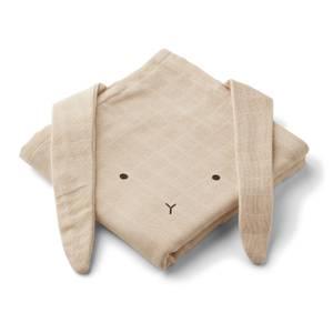 Liewood Baby Hannah Muslin Cloth - Rabbit Sandy (2 Pack)
