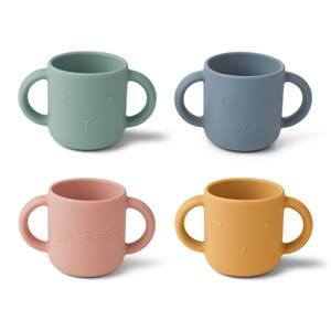 Liewood Gene Kids' Cups - Rabbit Multi (4 Pack)