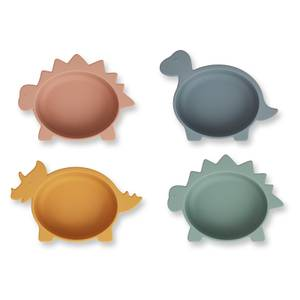 Liewood Iggy Kids' Silicone Bowls - Dino Multi Mix (4 Pack)