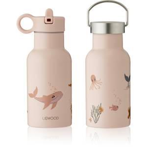 Liewood Anker Kids' Water Bottle - Sea Creature Rose