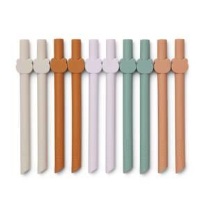 Liewood Badu Kids' Straws - Multi (10 Pack)