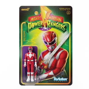 Super7 Mighty Morphin Power Rangers ReAction Figure - Red Ranger