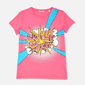 Guess Girls' Short Sleeved T-Shirt - Pop Pink