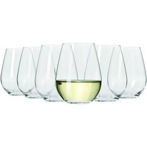 Maxwell & Williams Vino Set of 6 400ml Stemless White Wine Glasses