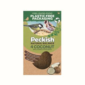 Peckish Natural Balance Coconut Feeder (Pack of 4)