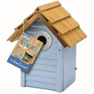 Gardman Beach Hut Nest Box Blue