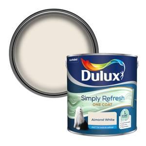 Dulux Simply Refresh One Coat Matt Emulsion Paint - Almond White - 2.5L